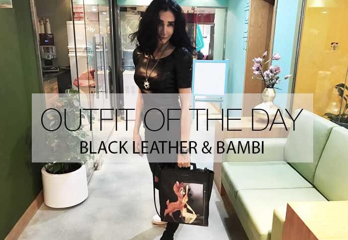 BLACK LEATHER AND BAMBI