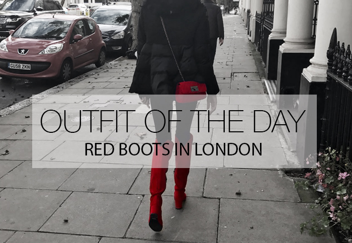 RED BOOTS IN LONDON